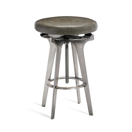 Colton Adjustable Stool (Silver)