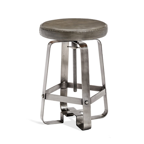 Mason Adjustable Stool (Silver)