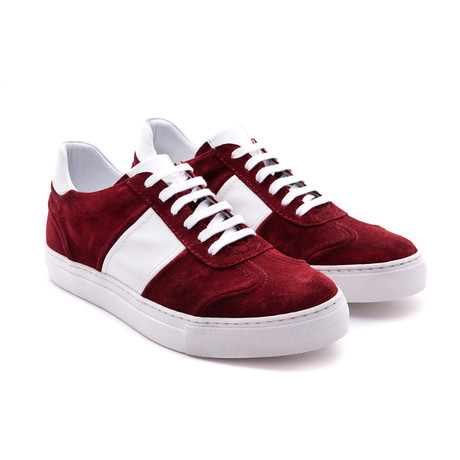 Damat Low-Top Casual Sneaker // Bordeaux + White (Euro: 39)