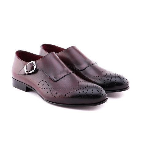 Damat Medallion Single Monkstrap // Bordeaux (Euro: 39)