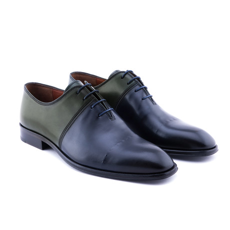 Textured Cap-Toe Oxford // Navy + Pine