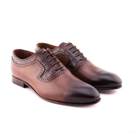 Damat Antique Textured Oxford // Tobacco (Euro: 39)