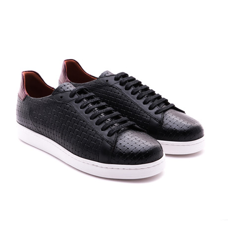 Damat Woven Low-Top Sneaker // Black (Euro: 39)