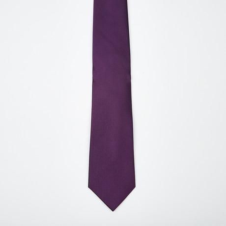 Enzo Textured Silk Tie // Purple