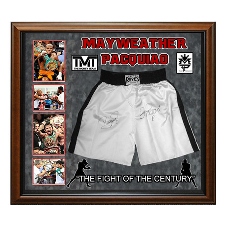 Signed Shorts // Floyd Mayweather + Manny Pacquiao