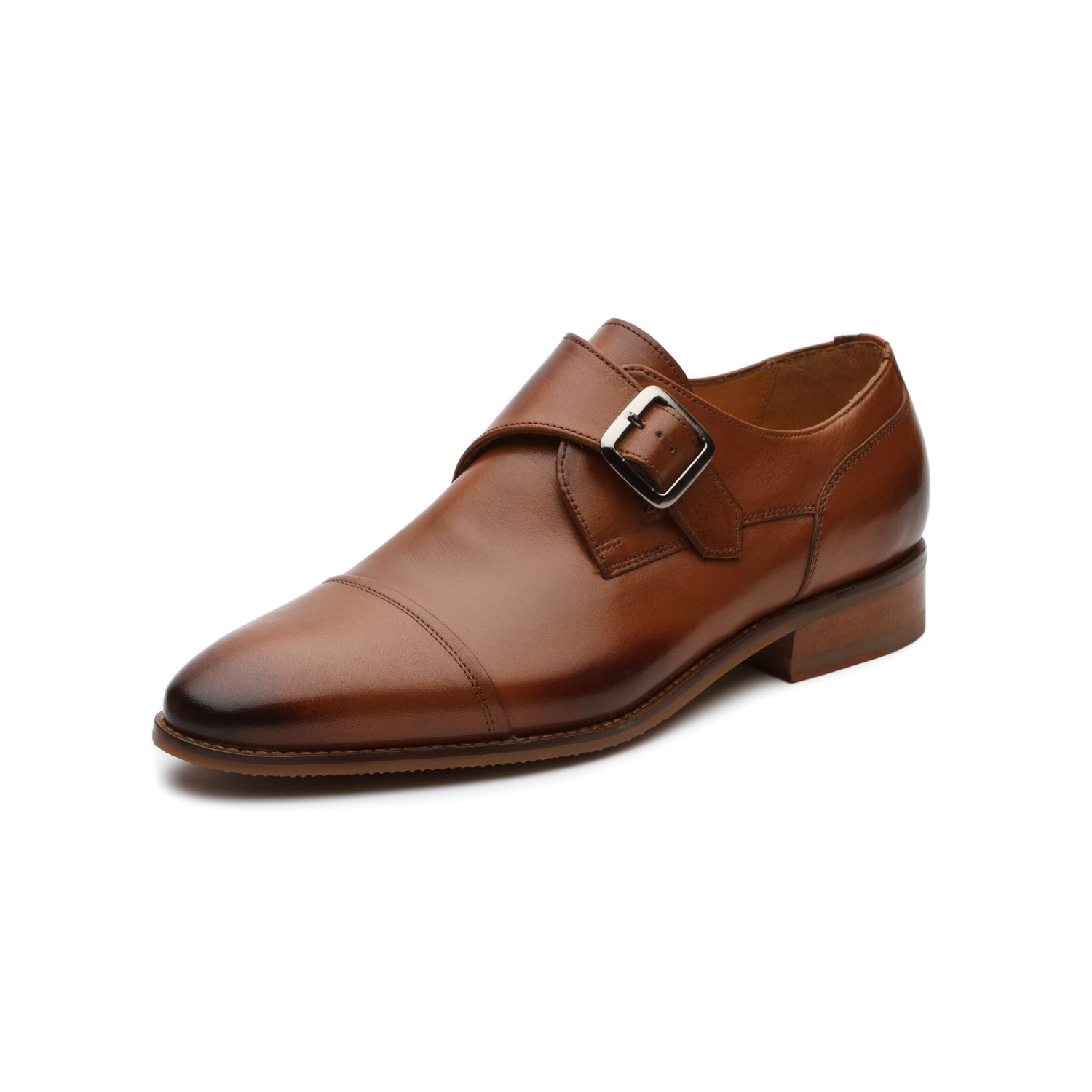 Dapper Tan Kitchen: William Leather Monkstrap // Tan (US: 10)