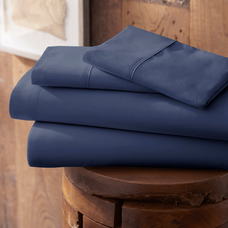 Urban Loft™ Premium Ultra Soft Bed Sheets // 4 Piece Set // Navy (Twin)