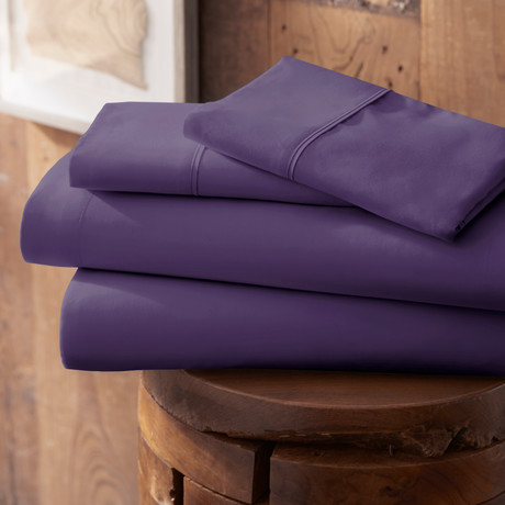 Urban Loft™ Premium Ultra Soft Bed Sheets // 4 Piece Set // Purple (Twin)