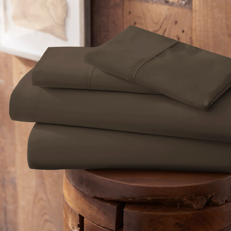 Urban Loft™ Premium Ultra Soft Bed Sheets // 4 Piece Set // Chocolate (Twin)