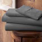 Urban Loft™ Premium Ultra Soft Bed Sheets // 4 Piece Set // Gray (Twin)