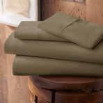 Urban Loft™ Premium Ultra Soft Bed Sheets // 4 Piece Set // Taupe (Twin)
