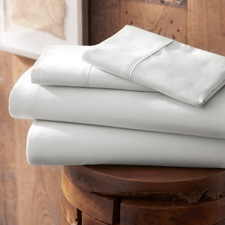 Urban Loft™ Premium Ultra Soft Bed Sheets // 4 Piece Set // White (Twin)