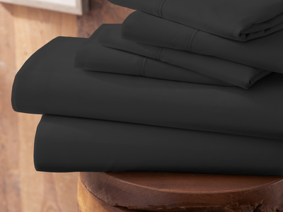 "Photo of iEnjoy Luxurious Microfiber Bedding Urban Loftâ""¢ Premium Ultra Soft Bed Sheets // 6 Piece Set // Black (Twin) by Touch Of Modern"