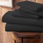 Urban Loft™ Premium Ultra Soft Bed Sheets // 6 Piece Set // Black (Twin)