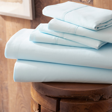 Urban Loft™ Premium Ultra Soft Bed Sheets // 6 Piece Set // Aqua (Twin)