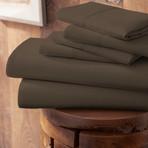 Urban Loft™ Premium Ultra Soft Bed Sheets // 6 Piece Set // Chocolate (Twin)