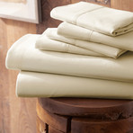 Urban Loft™ Premium Ultra Soft Bed Sheets // 6 Piece Set // Cream (Twin)