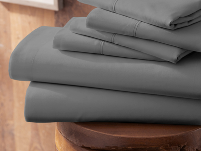 """Photo of iEnjoy Luxurious Microfiber Bedding Urban Loftâ""""¢ Premium Ultra Soft Bed Sheets // 6 Piece Set // Gray (Twin) by Touch Of Modern"""