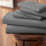 Urban Loft™ Premium Ultra Soft Bed Sheets // 6 Piece Set // Gray (Twin)