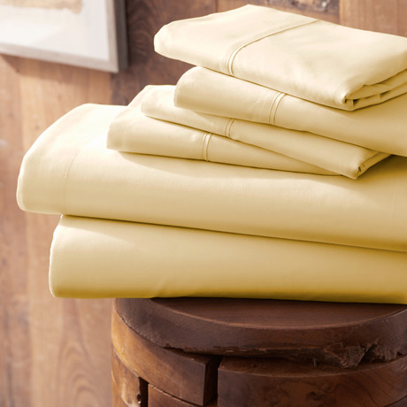 Urban Loft™ Premium Ultra Soft Bed Sheets // 6 Piece Set // Gold (Twin)