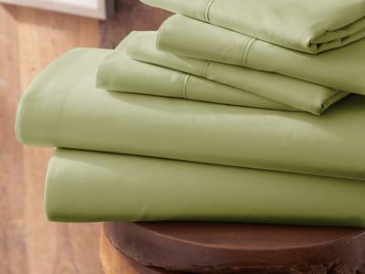 "iEnjoy Luxurious Microfiber Bedding Urban Loftâ""¢ Premium Ultra Soft Bed Sheets // 6 Piece Set // Sage (Twin) by Touch Of Modern - Denver Outlet"