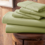Urban Loft™ Premium Ultra Soft Bed Sheets // 6 Piece Set // Sage (Twin)