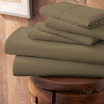 Urban Loft™ Premium Ultra Soft Bed Sheets // 6 Piece Set // Taupe (Twin)