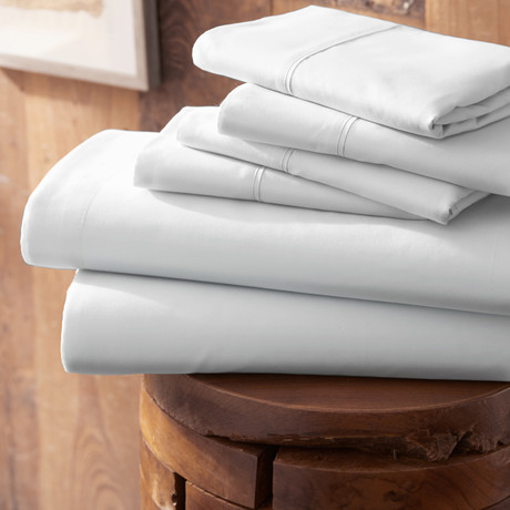 Urban Loft™ Premium Ultra Soft Bed Sheets // 6 Piece Set // White (Twin)