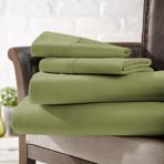 Urban Loft™ Luxury Soft Checkered Bed Sheets // 4 Piece Set // Sage (Twin)