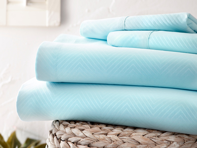 """iEnjoy Luxurious Microfiber Bedding Urban Loftâ""""¢ Luxury Soft Chevron Bed Sheets // 4 Piece Set // Aqua (Twin) by Touch Of Modern - Anniversary Gifts for Him"""