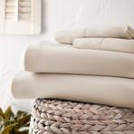 Urban Loft™ Luxury Soft Chevron Bed Sheets // 4 Piece Set // Cream (Twin)