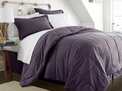 """iEnjoy Luxurious Microfiber Bedding Urban Loftâ""""¢ Premium Bed In A Bag // 8 Piece Set // Purple (Twin) by Touch Of Modern - Denver Outlet"""