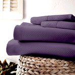 Urban Loft™ Luxury Soft Chevron Bed Sheets // 4 Piece Set // Purple (Twin)