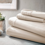 Urban Loft™ Luxury Soft Striped Bed Sheets // 4 Piece Set // Cream (Twin)