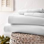 Urban Loft™ Luxury Soft Chevron Bed Sheets // 4 Piece Set // White (Twin)