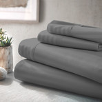 Urban Loft™ Luxury Soft Striped Bed Sheets // 4 Piece Set // Gray (Twin)