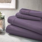 Urban Loft™ Luxury Soft Striped Bed Sheets // 4 Piece Set // Purple (Twin)