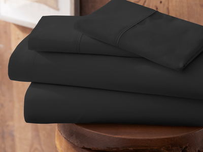 "iEnjoy Luxurious Microfiber Bedding Urban Loftâ""¢ Premium Ultra Soft Bed Sheets // 4 Piece Set // Black (Twin) by Touch Of Modern - Anniversary Gifts for Him"