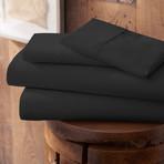 Urban Loft™ Premium Ultra Soft Bed Sheets // 4 Piece Set // Black (Twin)