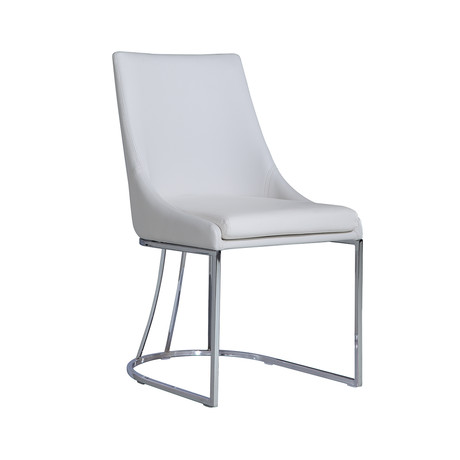 CREEK // Dining Chair (White Eco-Leather)