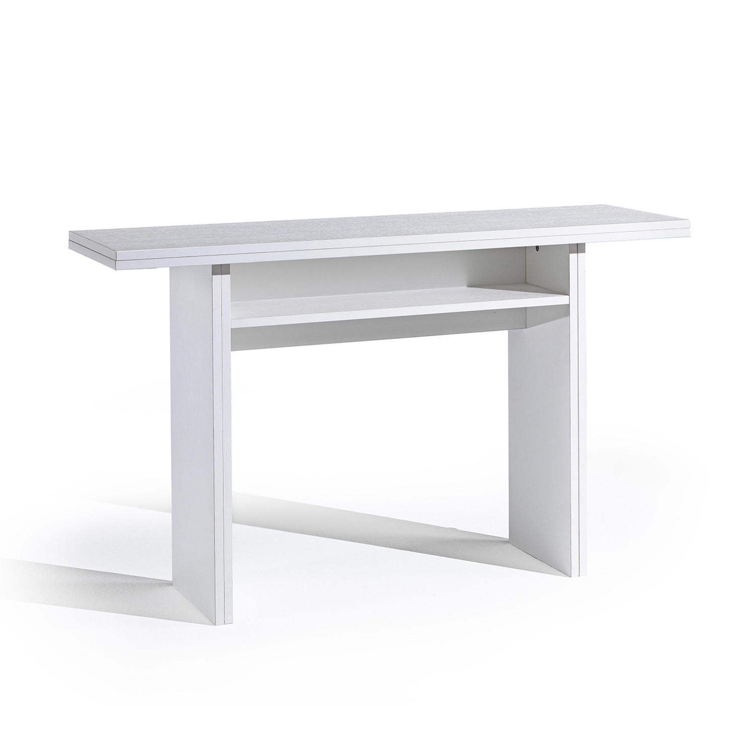 RITZ Extendable Console Dining Table White Wash