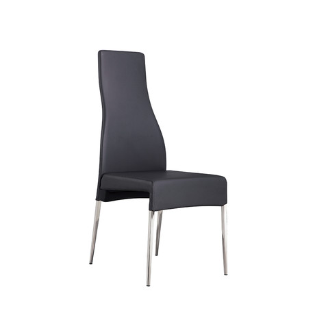 VALENTINO // Dining Chair (Gray Leather)