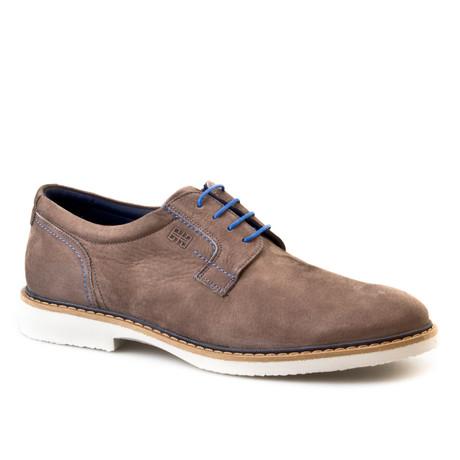 Nubuck Plain Toe Derby // Mink (Euro: 42)
