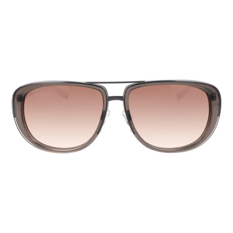 Thick Rim Aviator // Clear Brown