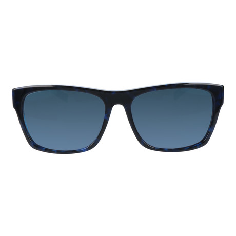 Heavy Bridge Square Wayfarer // Black + Blue Mirror