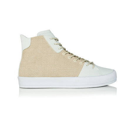 Carda High-Top Sneaker // Vintage White