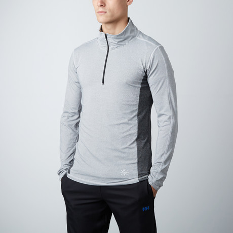 Hook Fitness Tech Pullover // Steel Grey