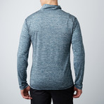 Parry Fitness Tech Pullover // Marled Blue (S)