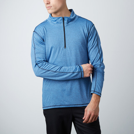 Parry Fitness Tech Pullover // Blue