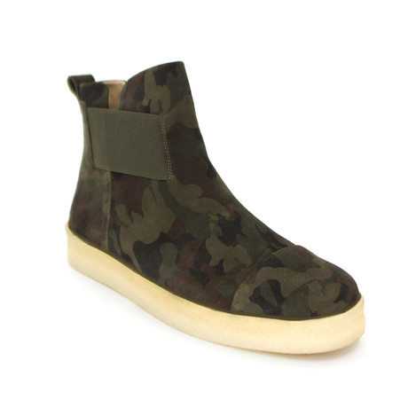 Tunnel Chelsea Core Suede Boot // Camo Cow